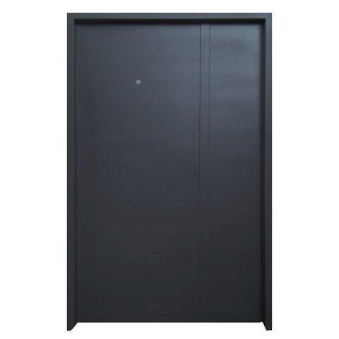 5001-120 Puerta de chapa inyectada Nº 20. Puerta y media de 1.20 lisa con mirilla.